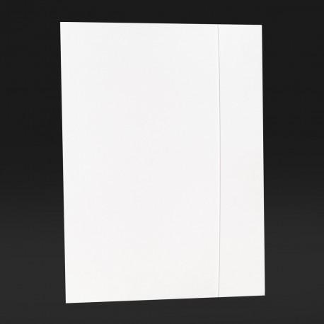Teczki z gumką prostą, białe