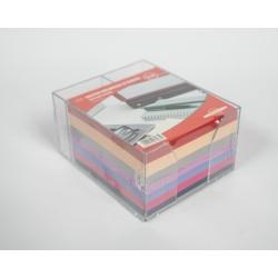Kostka papierowa kolorowa w kubiku 85x85x50