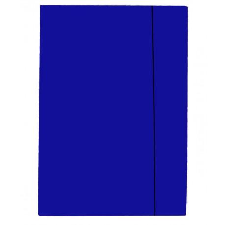 Przestrzenne teczki z gumką, jednolite - niebieskie