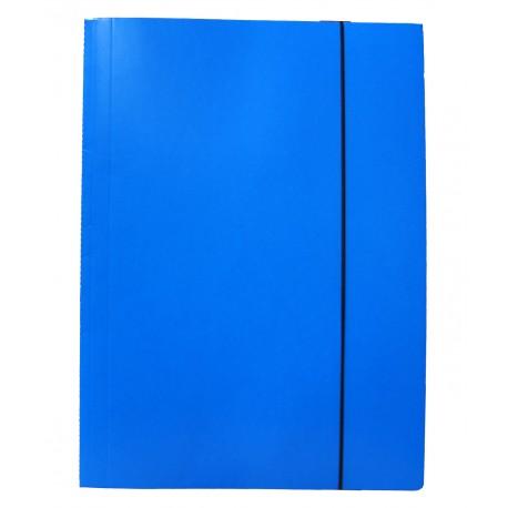 Teczki z gumką prostą, jednolite - niebieska jasna