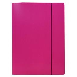 Teczki z gumką prostą, jednolite - różowa